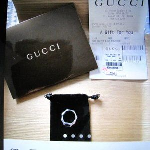 Gucci Silver Bamboo Pinkie Ring